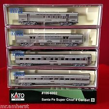 Best Kato N Scale 106 6002 Santa Fe Super Chief 4 Car Passenger 400 x 300