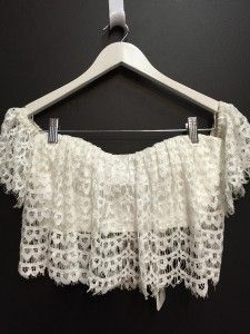 Angela Baby White Frill Lace Crop WAS $49.99 NOW $23.99