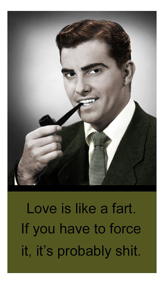 Magnet  Retro Humor  Love is like a fart by LulusFiveandDime, $2.00