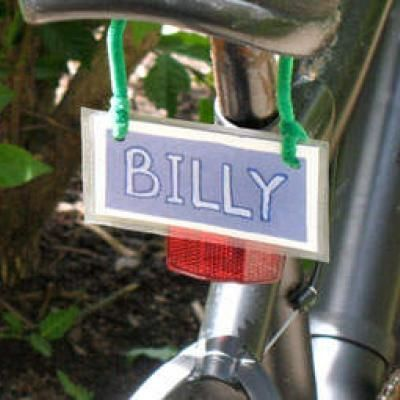 Bicycle License Plate Craft - could use magazine letters - or letter stampers