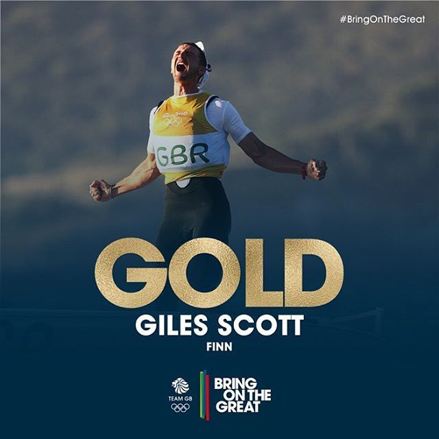 Giles Scott, this is your moment! Enjoy it - the nation certainly has!  #sailing#Rio2016#BringOnTheGreat