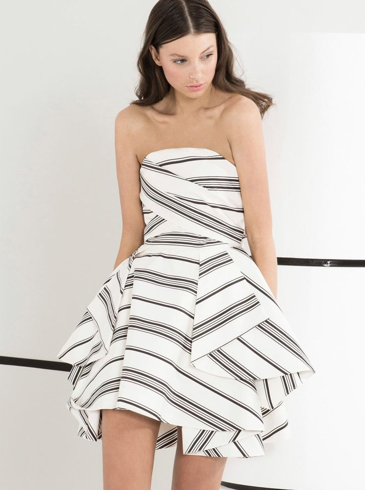 Mary & Me - CAMEO - The Label - Night Tale Dress - Stripe $239.90
