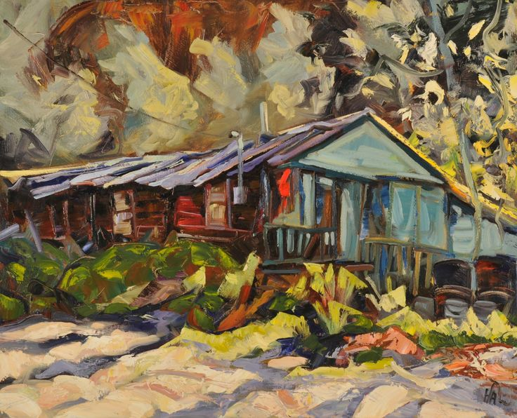 Turquoise Cabin painted in Dawson City by Halin de Repentigny.  I am proud to say this painting is in my livingroom.