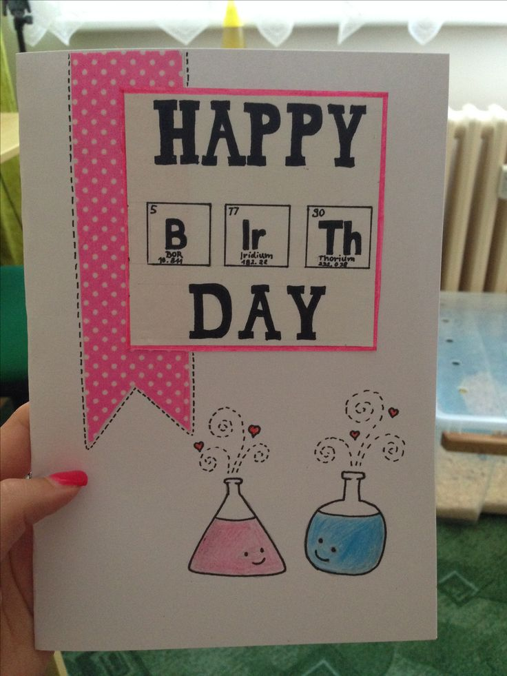 Birthday card for a chemist