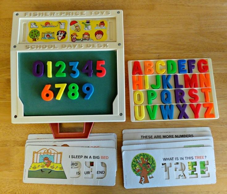 Vintage FISHER PRICE School Days Desk Chalkboard Stencils Magnets 176 - 147 Best Nostalgia! Images On Pinterest Childhood, Memories And