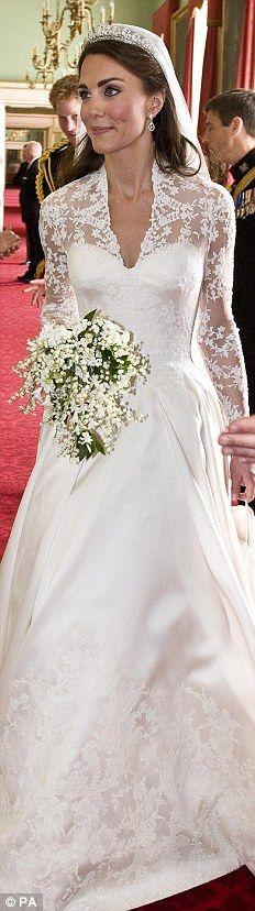 Kate stunned the world in Sarah Burton's McQueen wedding gown