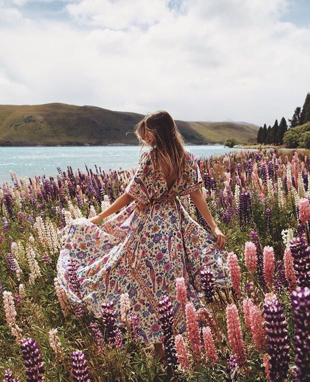 Boho in the flowers