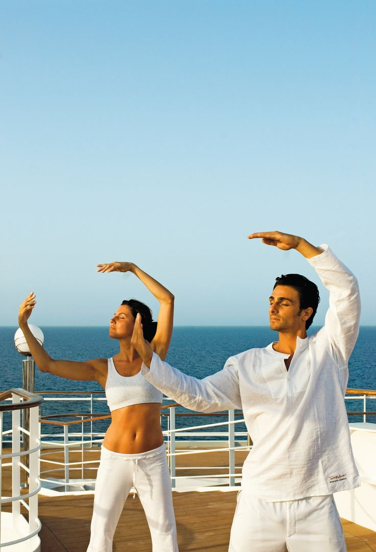 #Yoga with a view on-board #MSCMusica