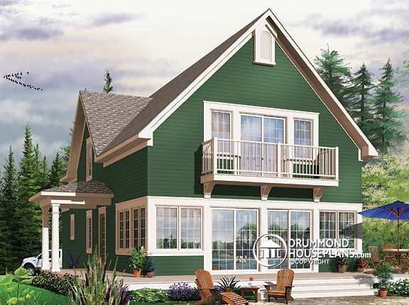 House Plan W3510 Beautiful 9 39 Ceiling Cottage One Giant Master Bedroom With Balcony Panoramic