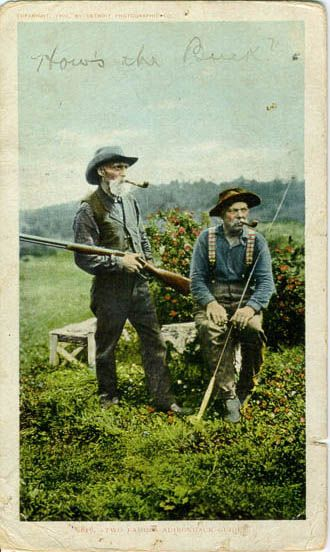 Post card from 1902 - Adirondack Guides.