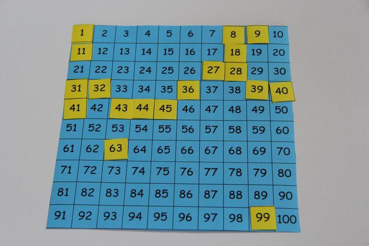 számtábla-bingó és sok más ötlet százas számtáblához http://gyereketeto.hu/tanulas/100-tabla-otletek