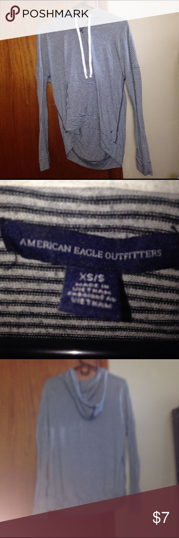 American eagle black and white striped hoodie A black and white American eagle hoodie. American Eagle Outfitters Other