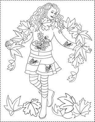 fall fairy coloring pages - photo#26