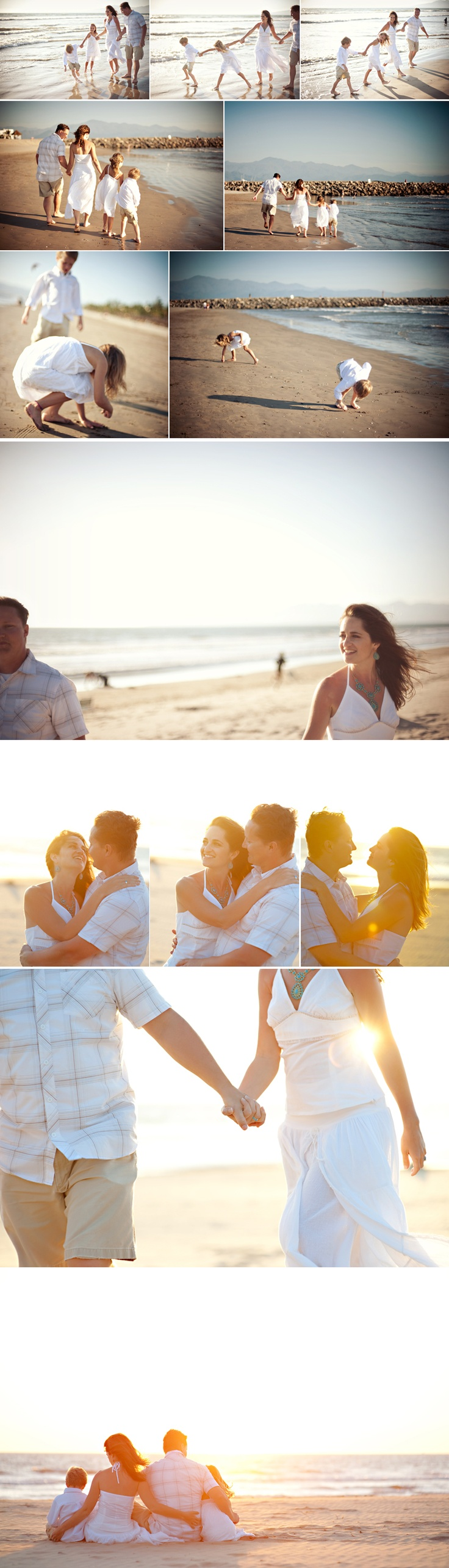 Bottom picture- Awesome family shoot on the beach.
