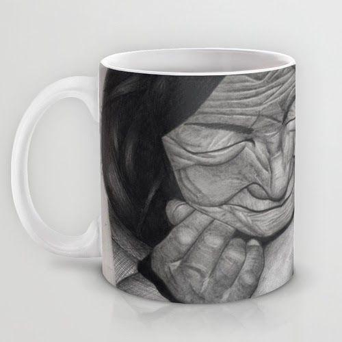 old and young mug