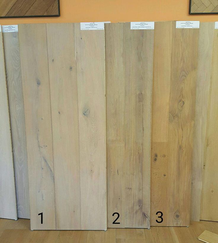Welke kleur heeft uw voorkeur?   1. Alaska White   2. Mountain Grey   3. Natural Oak  Deze kleuren zijn maar een greep uit het assortiment.  In onze showroom staan o.a. deze mooie planken te wachten om samengesteld te worden. Wist u dat u keuze heeft uit meer dan 200 kleuren? Neem eens een kijkje in onze showroom.