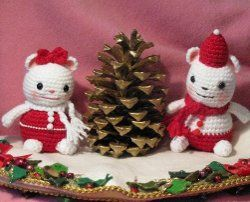 Christmas Mouse Amigurumi: Crochet Mice, Crochet Projects, Crochet Mouse, Crochet Amigurumi, Christmas Mouse, Free Patterns, Crochet Patterns, Holidays Mice, Amigurumi Patterns