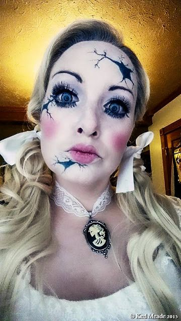 Broken Doll Makeup.Something wicKED this way comes....: wicKED weeKEnD Halloween Party of 2015