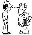 """""""9 goda råd för dig som samtalar med en hörselskadad"""" Tala direkt, försök få ögonkontakt.  Se även:  http://www.skane.se/upload/Webbplatser%20Internt/Audiolog/9_goda_rad_hsk.pdf"""