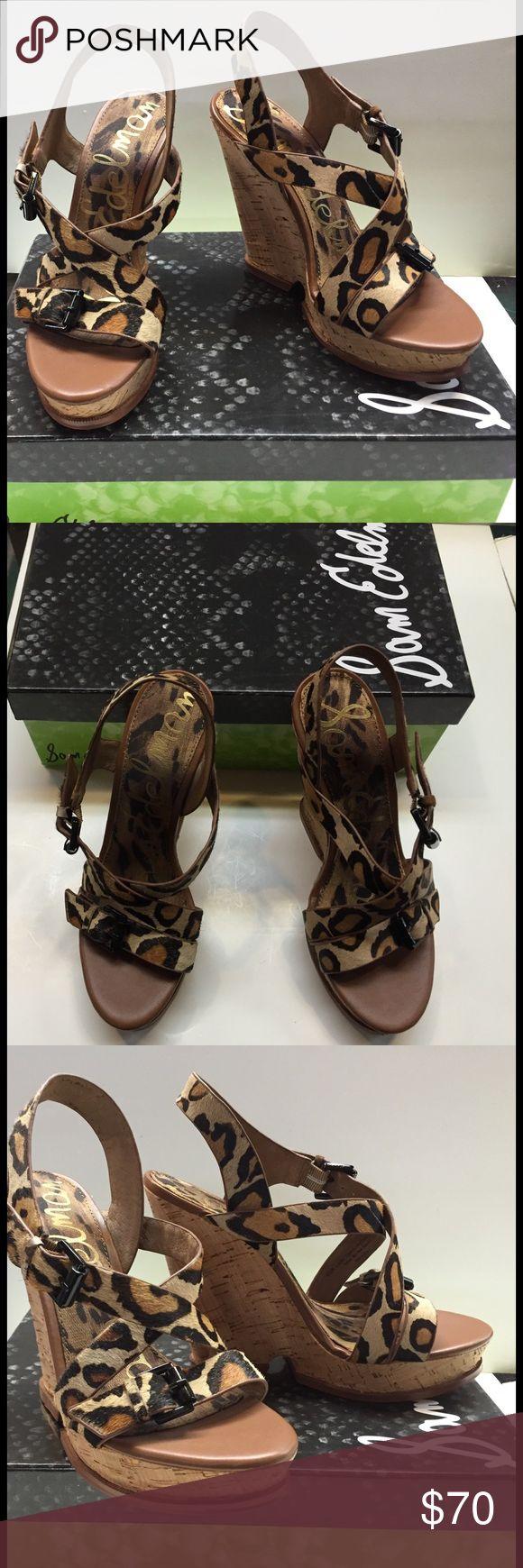 Sam Edelman Leopard print wedge. New. Sam Edelman Leopard print wedge sandals. Brand new in the box. Sam Edelman Shoes Wedges