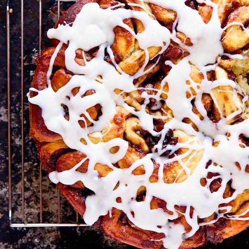 Apple Cinnamon Rolls with Jack Daniels-Cream Cheese Icing