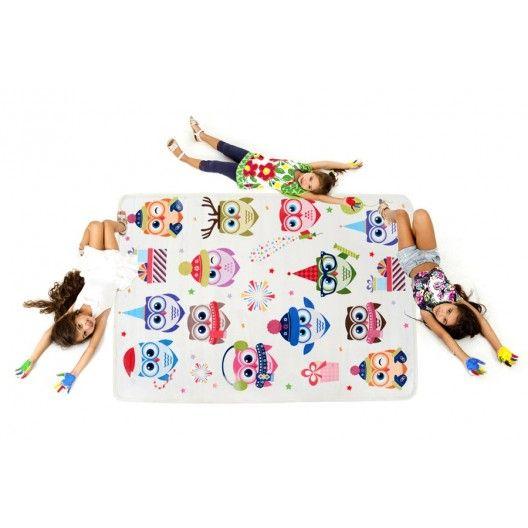 Kvalitny koberec do detskej izby s motivom soviciek