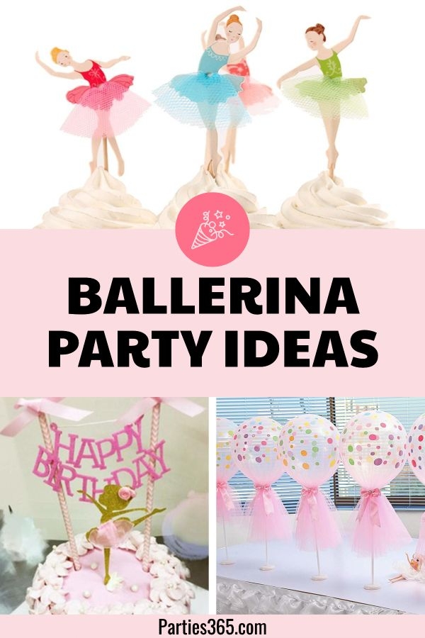 Ballerina Birthday Party Ideas And Supplies Parties365 Ballerina Birthday Party Decorations Ballerina Birthday Parties Ballerina Birthday Party Food