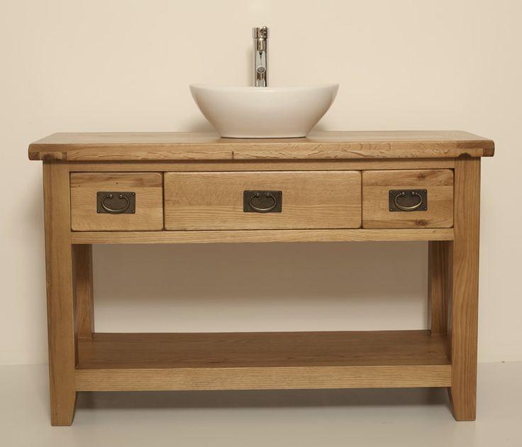 Traditional Oak Vanity Unit with Open Shelf | Bathroom | Valencia | Home Furniture Land