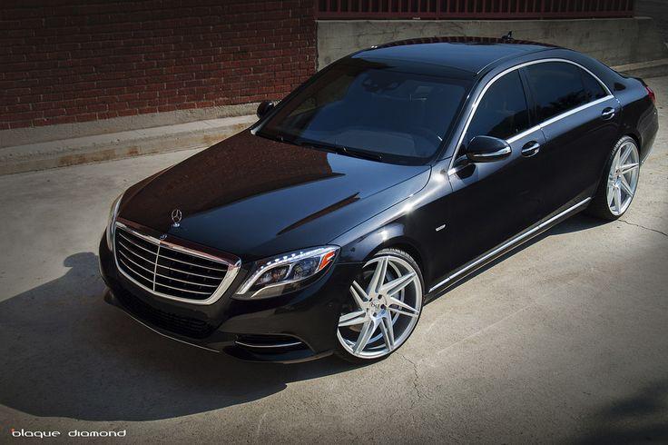 2014 Mercedes S550 Black BD-1 22 Inch Silver Blaque Diamond