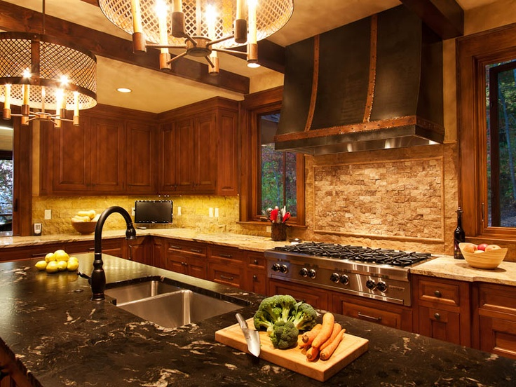 An Asheville American Classic Kitchen Made Of Alder.