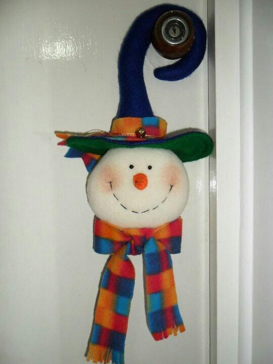 Muñeco de Nieve para puerta