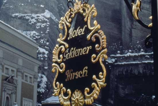 Salzburg, Hotel Goldener Hirsch, 1980