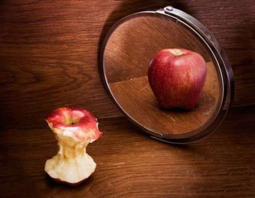some people are like this apple..