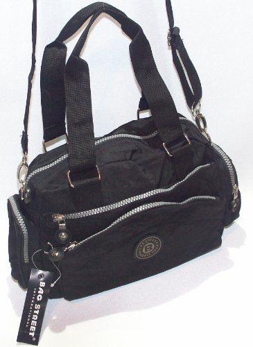Handtasche Bag Street schwarz Nylon
