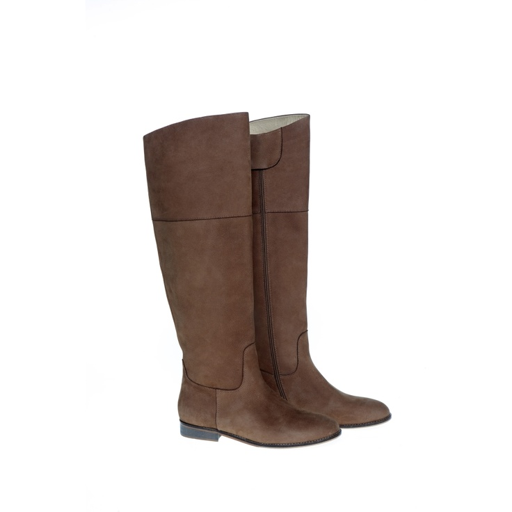 Tall Tab winter boot from Elk Accesories - beautiful soft leather lined and so warm! Available in Sage Green, Black and Tan. $369
