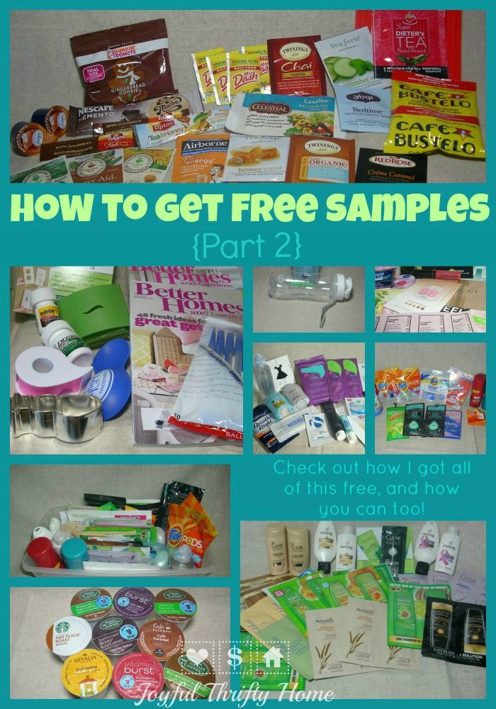 Check out this post about how to get free samples!!...there's a list of where to find free samples plus some great tips.