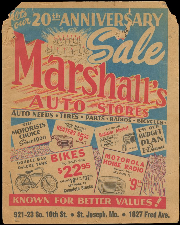1940 Marhsall's Auto store ad