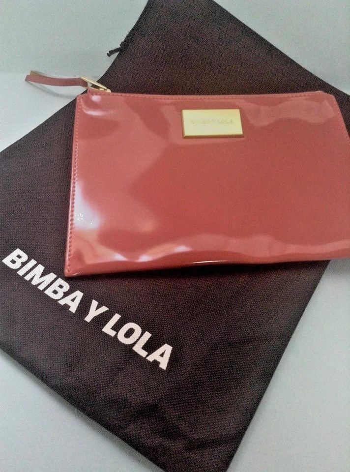 Bimba and Lola Coral Color Clutch Bag NWT & dust bag, Greece #BimbaYLola #Clutch