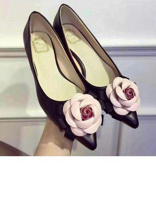 Mulheres Sem salto Fechados Salto baixo Couro verdadeiro Sapatos