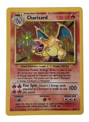 Charizard First Edition Pokemon Cards