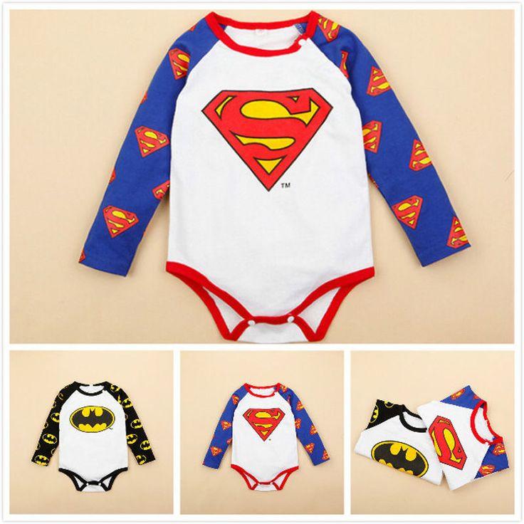 Newborn Infant Baby Romper Boy Girl Superman Batman Cotton Romper Children Clothing Jumpsuit Costume