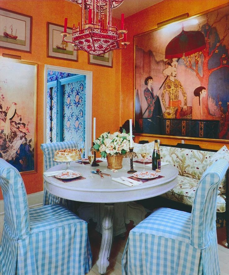 Chinoiserie Dining Area Design By Justine Cushing