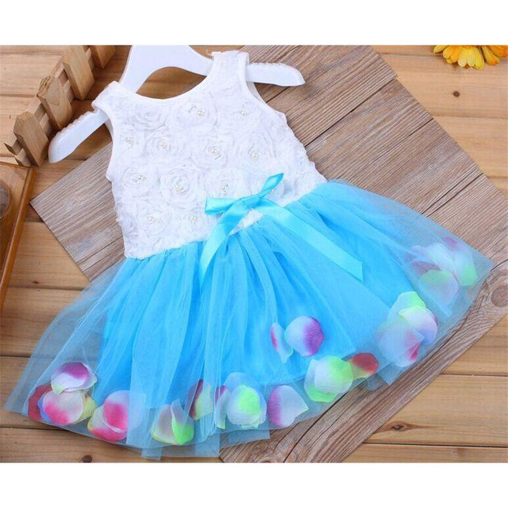 Мода Лето Красочные Мини Туту Платье Лепесток Подол Платья Цветочные Одежда…