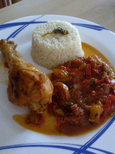 Poulet basquaise - Recette de cuisine Marmiton : une recette