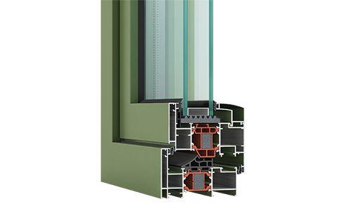 Ανοιγοανακλινόμενο Θερμομονωτικό Σύστημα AL 570 & AL 570 Dynamic Plus. Ειδικό ενισχυμένο πολυαμίδιο με υαλονήματα 34mm που προσφέρει μέγιστη θερμομόνωση και ηχομόνωση και πολυαμίδια που συνδυάζονται με ειδικού τύπου πολυστερίνη (Nomaflex profile). Opening Thermal Break System AL 570 & AL 570 Dynamic Plus. Special reinforced polyamide with fiberglass 34mm, offering maximum thermal insulation and soundproofing and polyamides associated with a special type of polystyrene (Nomaflex profile).