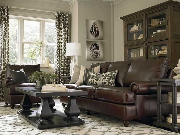 dark brown couch with pillows - Google Search