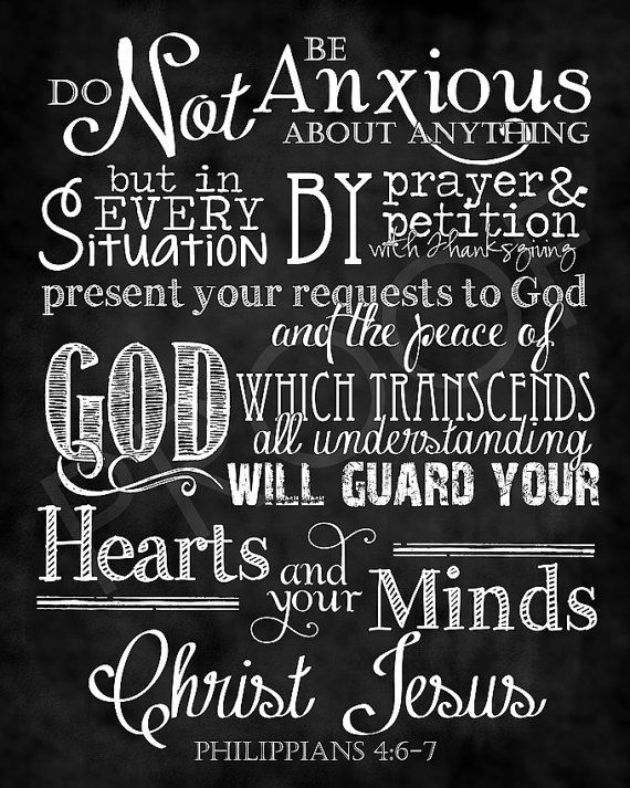 """""""do not be anxious about anything, but in everything by prayer and supplication with thanksgiving let your requests be made known to God. 7 And the peace of God, which surpasses all understanding, will guard your hearts and your minds in Christ Jesus."""" Philippians 4:6-7 #memoryverse"""