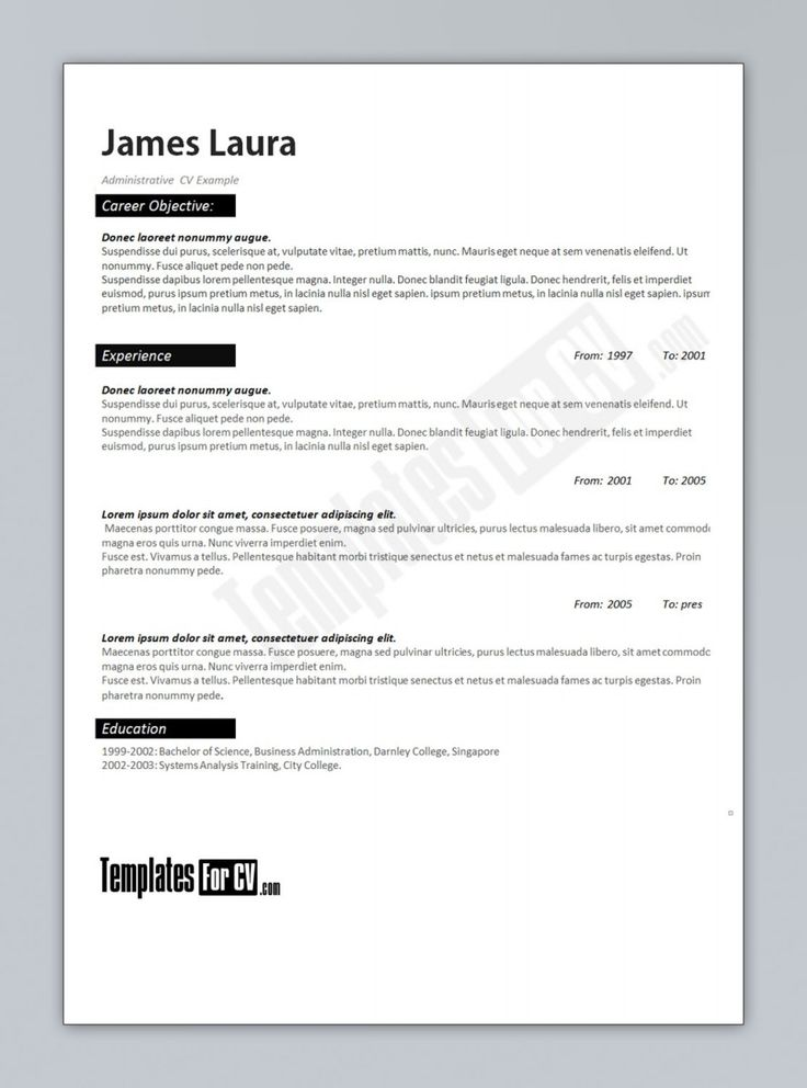 15 free resume templates microsoft word resume template ideas - Resume Templates In Microsoft Word