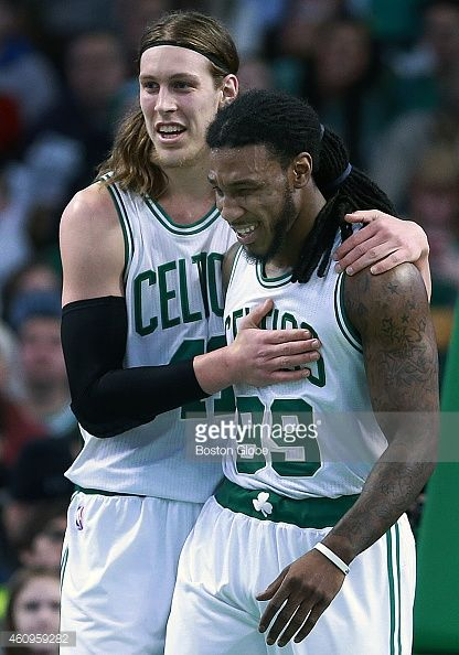 My two favorite NBA players, Kelly Olynyk #41, and Jae Crowder #99 of the Boston Celtics.