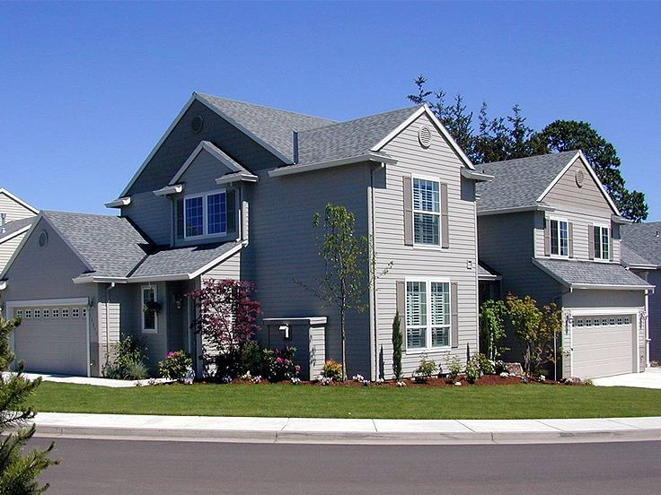 034M 0007  Multi Family House Plan Designed for a Corner Lot49 best Multi Family House Plans images on Pinterest   Family  . Single Family Home Designs. Home Design Ideas
